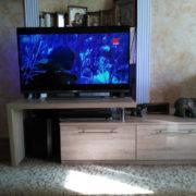 Тумба ТВ с выдвижными ящиками и приставной консолью в Донецке