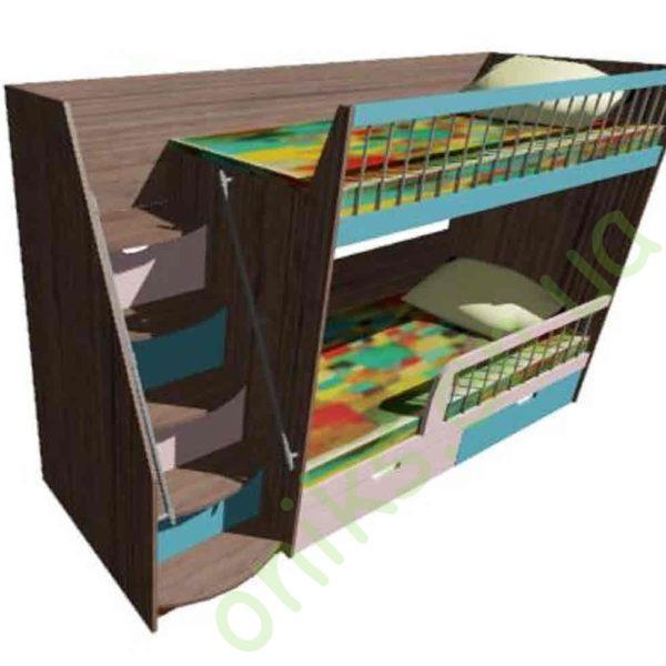 Кровать двухъярусная детская Донецк