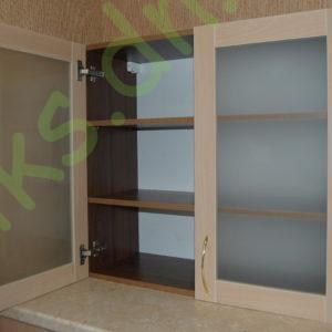 Купить верхний кухонный модуль с полками витрина в Донецке