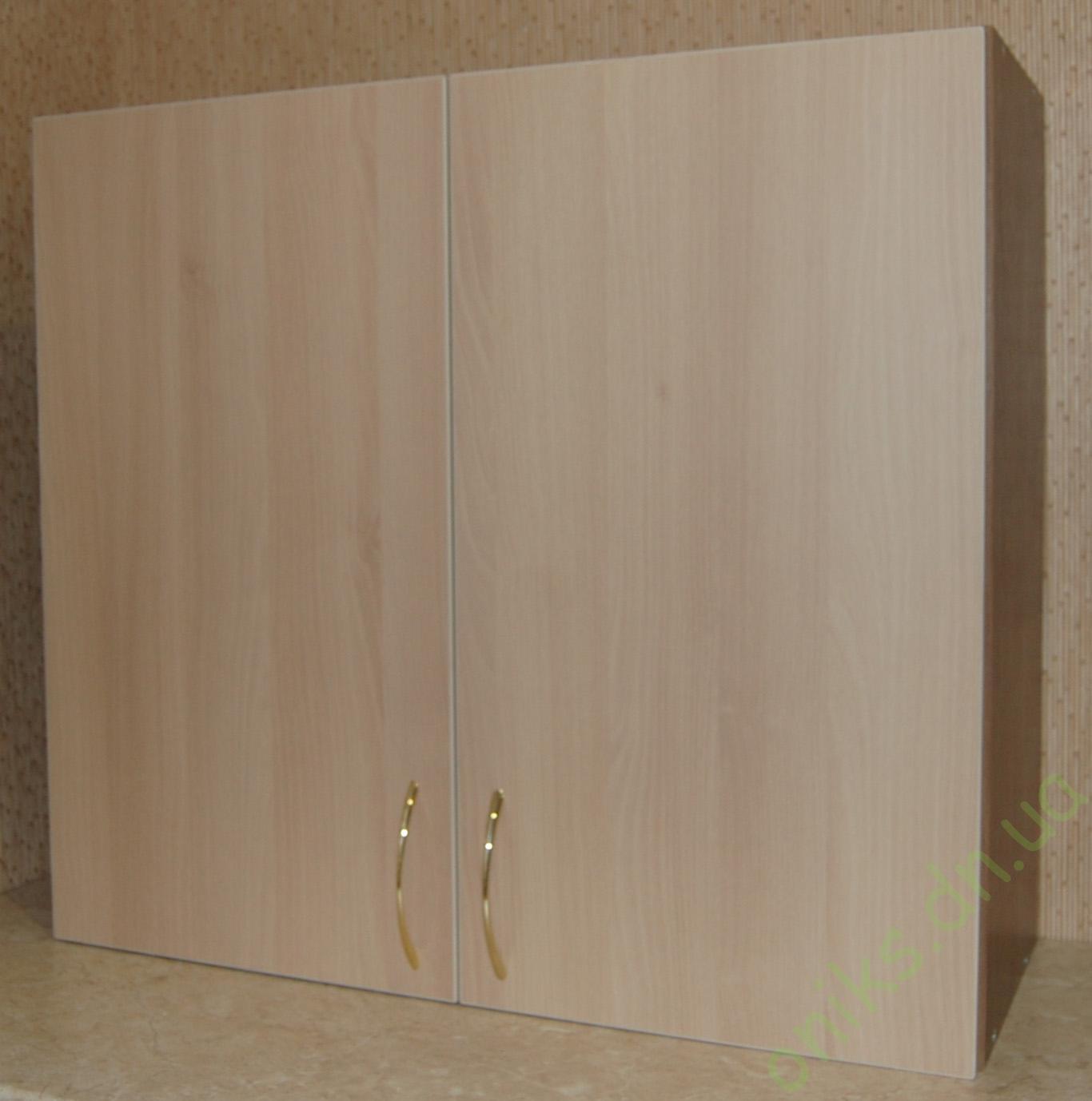 Купить верхний двухдверный кухонный модуль с полками в Донецке