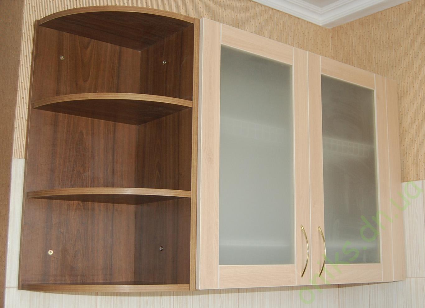 Купить верхний кухонный модуль с радиусными полками в Донецке
