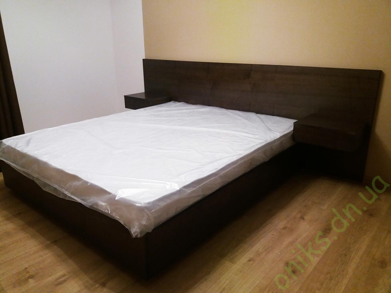 Кровать двуспальная с подвесными тумбами Донецк