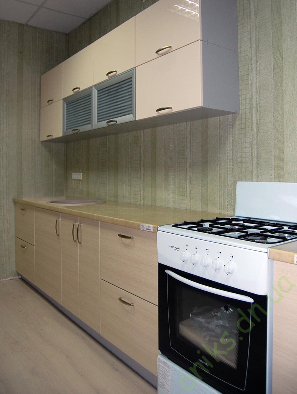 Купить модульную прямую кухню Хай-тек в Донецке