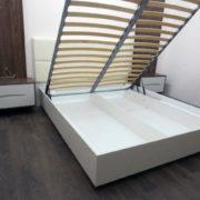 Купить двуспальную кровать с мягкой спинкой в Донецке