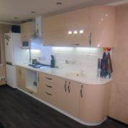Купить прямую кухню с крашеными фасадами Донецк