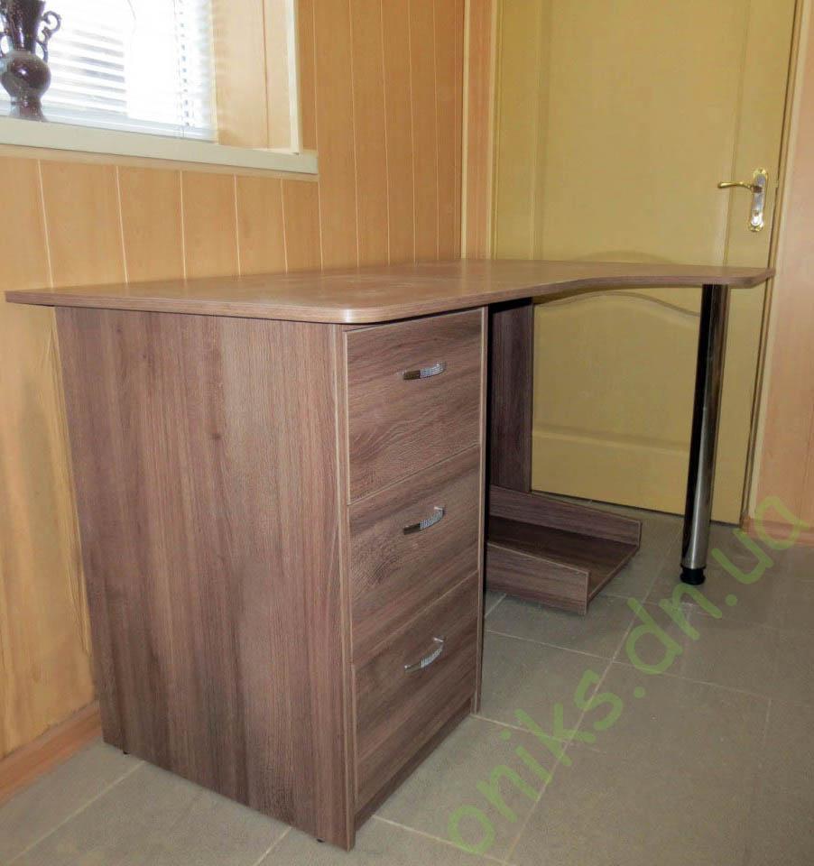 Заказать угловой однотумбовый компьютерный стол в Донецке