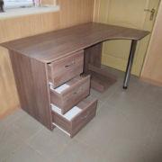 Угловой однотумбовый компьютерный стол под заказ в Донецке