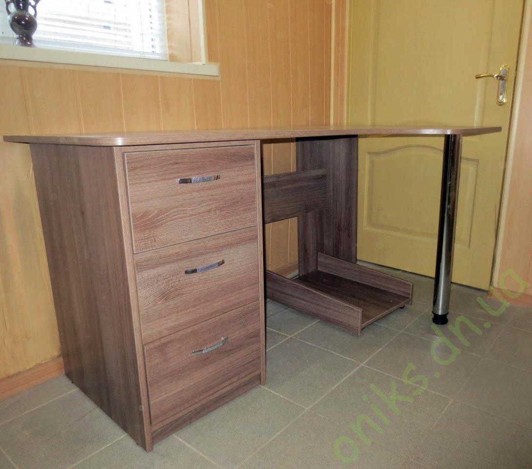 Купить угловой однотумбовый компьютерный стол в Донецке