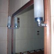 Купить настенное зеркало в деревянной рамке с подсветкой в Донецке