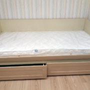 Купить односпальную кровать с выдвижными ящиками в Донецке