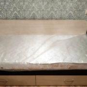 Односпальная кровать с верхними шкафчиками и бельевыми ящиками Донецк