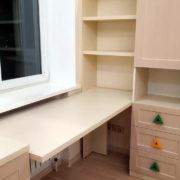 Купить трехдверный шкаф со столом и тумбой в Донецке