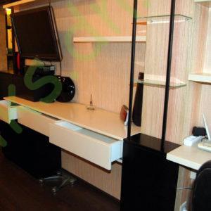 Купить подвесную консоль с тумбой и полками в Донецке