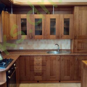 Купить встроенную угловую кухню с отдельным модулем под посудомоечную машину в Донецке
