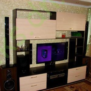 Купить тумбу ТВ с верхними шкафчиками в Донецке