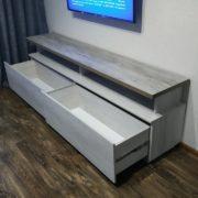 Купить тумбу ТВ с двумя ящиками и открытой нишей в Донецке