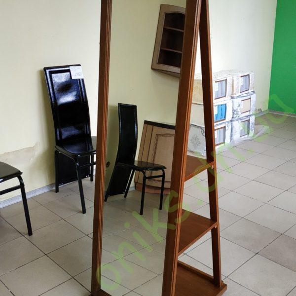 Купить напольное деревянное зеркало с полками в Донецке