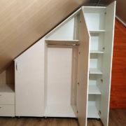 Купить шкаф с угловыми фасадами и тумбой в Донецке