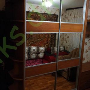 Купить шкаф-купе с радиусными полками в Донецке