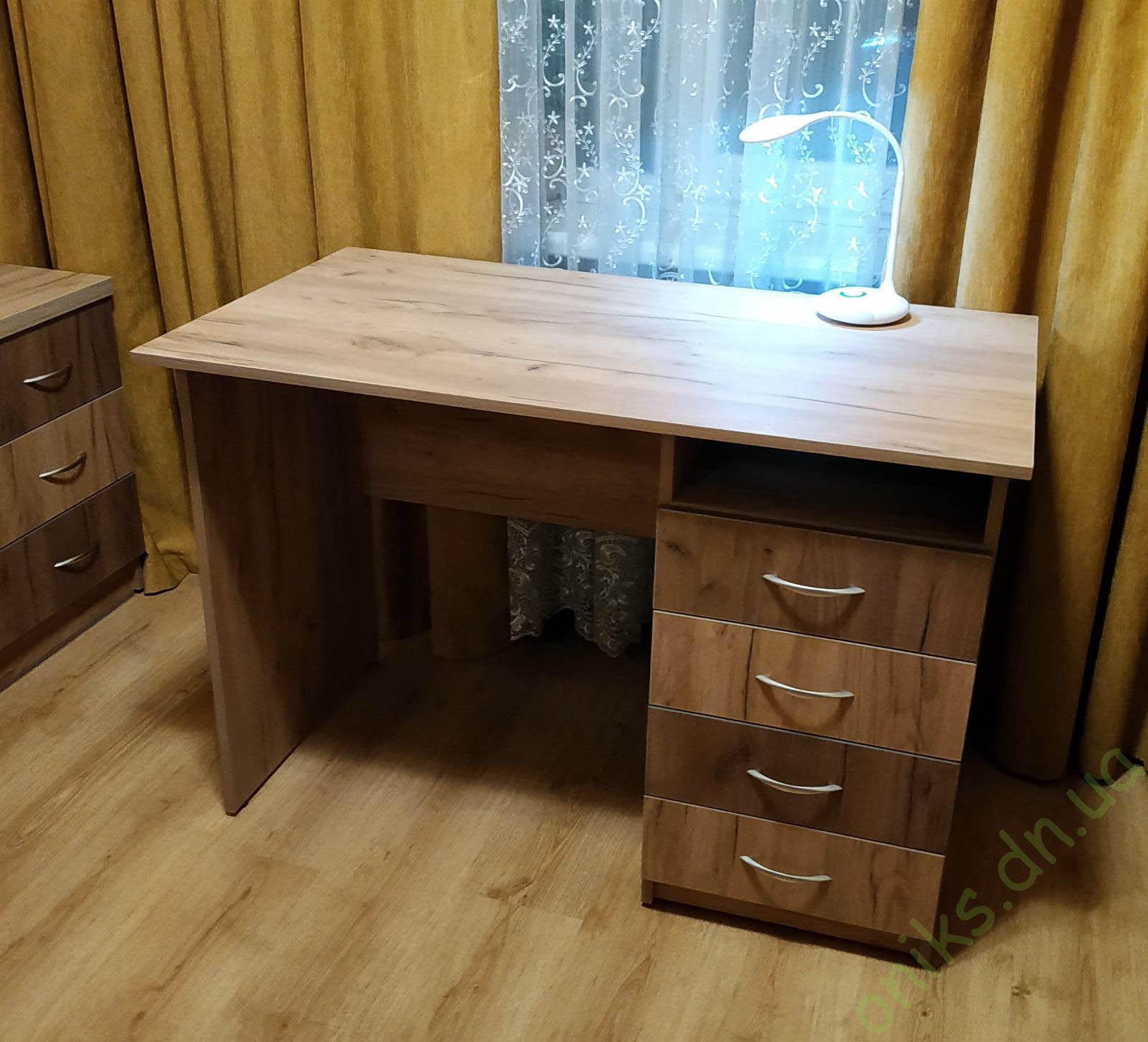 Купить письменный однотумбовый стол крафт комби в Донецке