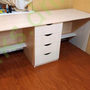 Купить стол письменный двухпостовой однотумбовый в Донецке