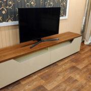 Купить тумбу ТВ комби ваниль/орех в Донецке
