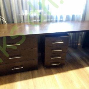 Купить стол письменный двухтумбовый с настенными полками в Донецке