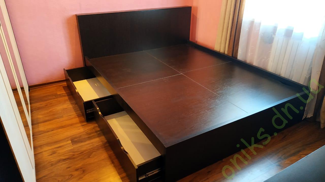 """Купить кровать двуспальную """"Лидия"""" с выдвижными ящиками в Донецке"""