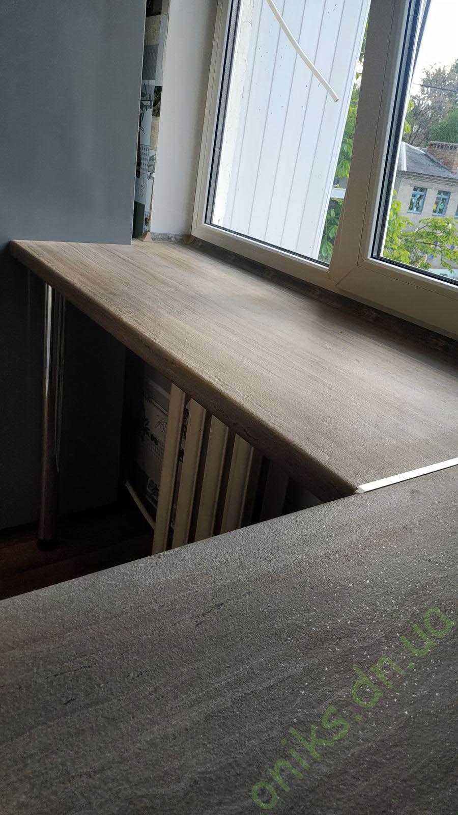 Купить кухню угловую со встроенной столешницей под окном в Донецке