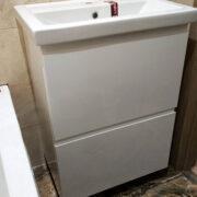Купить тумбу в с/у подвесная с выдвижными ящиками в Донецке