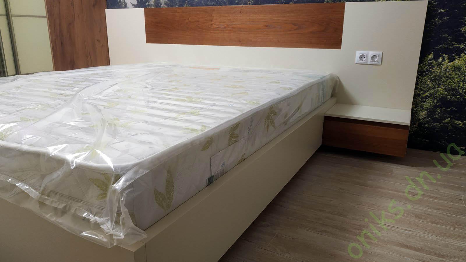 """Купить кровать двуспальную """"Алина"""" с подвесными тумбами в Донецке"""