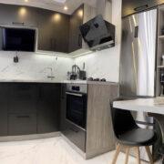 Купить кухню угловую с черными фасадами в Донецке