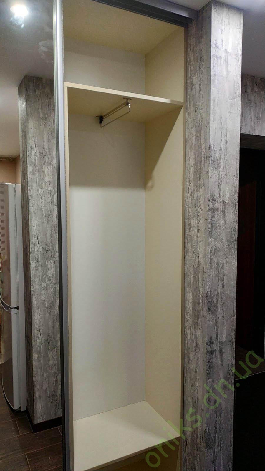 Купить шкаф-купе с раздвижными дверями встроенный в нишу в Донецке
