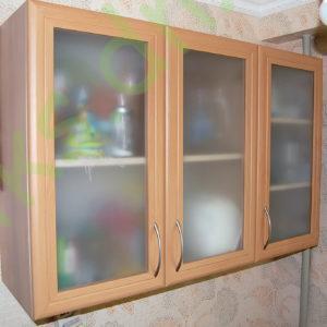 Купить кухонный верхний модуль с полками витрина в Донецке