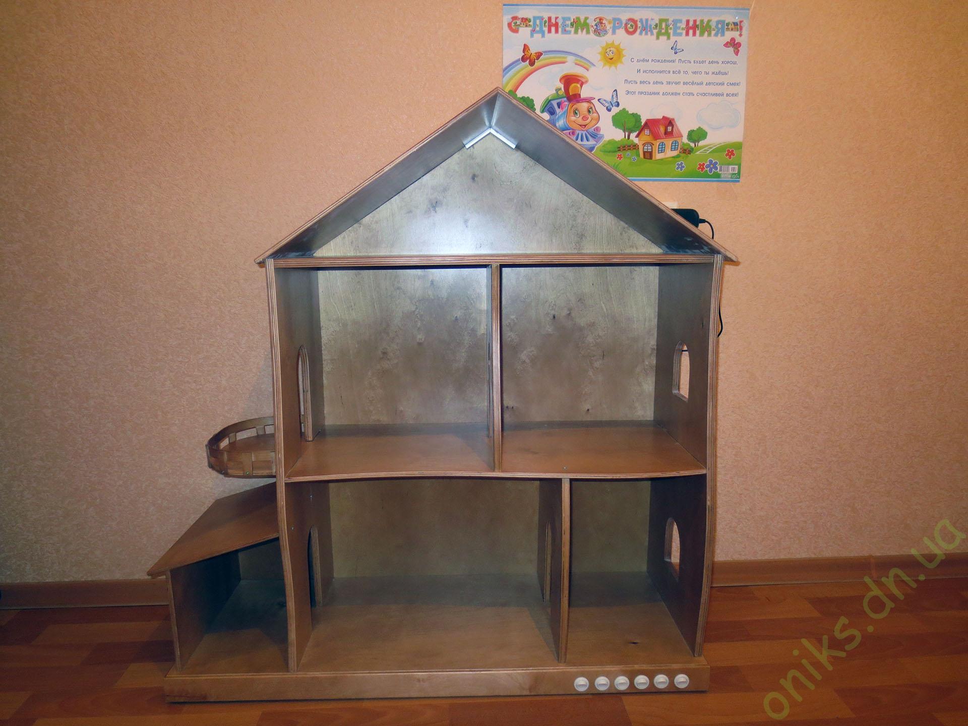 Купить деревянной домик для кукол в Донецке