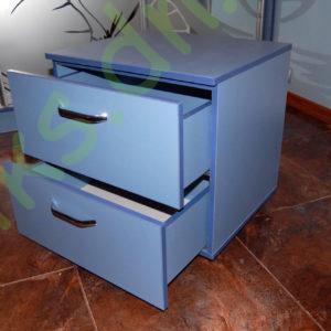 Купить мобильную прикроватную тумбу с двумя выдвижными ящиками в Донецке