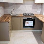 Купить кухню угловую со встроенной столешницей вместо подоконника и дополнительным модулем в Донецке